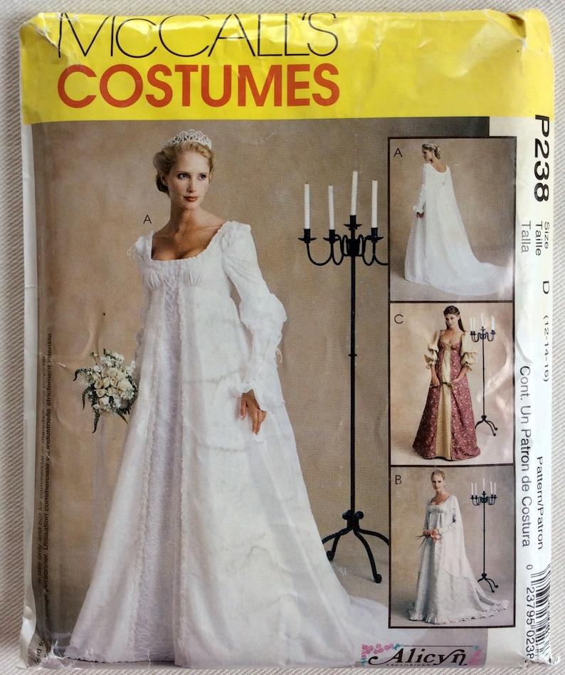 9ff0d83e39673 McCalls Pattern 2645 P238 Scoop Neck Empire Waist Bridal