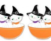 PRE ORDER Glitter Silver Plated Friendship bowl with Holt Howard Kitties