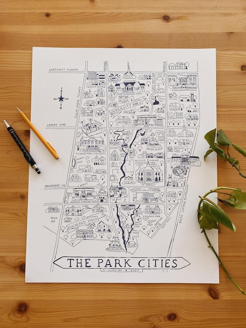 Park Cities Letterpress Print image 0