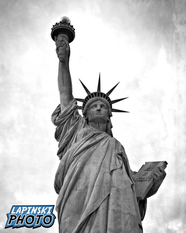 differently e8d6b a0052 Statue Of Liberty Photograph Black   White Photography New   Etsy