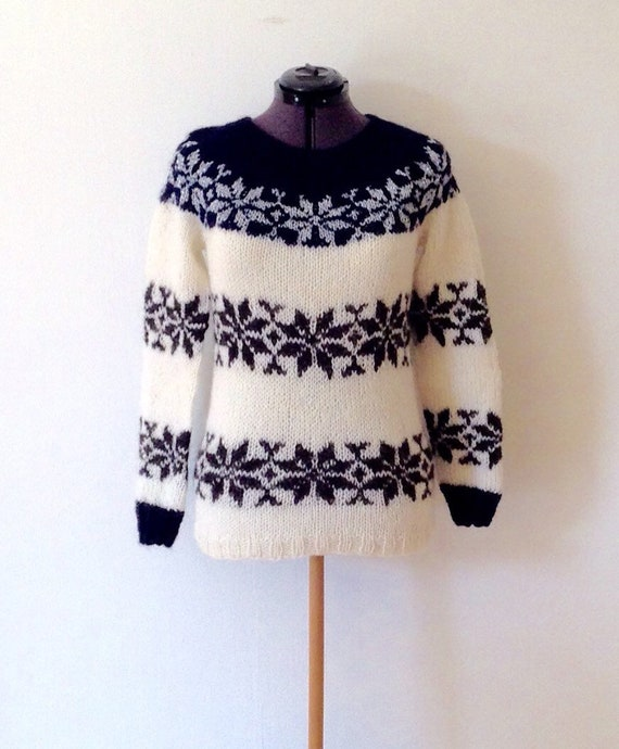 Faroe Islands Sarah Lund sweater pure Icelandic Wool Islandpullover- pull islandais handmade lopapeysa jumper