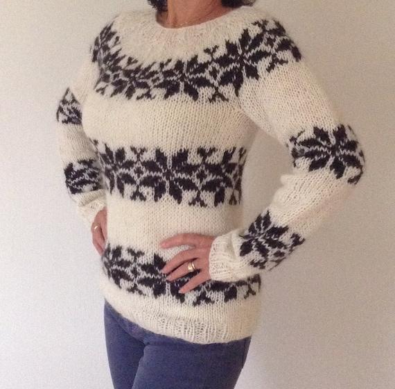 Sarah Lund Sweater Handmade From Pure Icelandic Wool Etsy