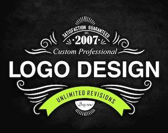 Logo Design, Logo Design Custom, Custom Logo Design, Photography Logo, Vintage Logo, Retro Logo, whimsical logo, Hand drawn, Chalkboard Logo