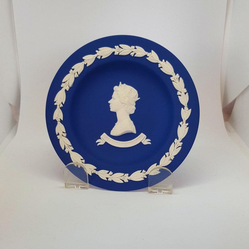 Vintage Wedgwood Jasperware Plate Silver Jubilee image 0