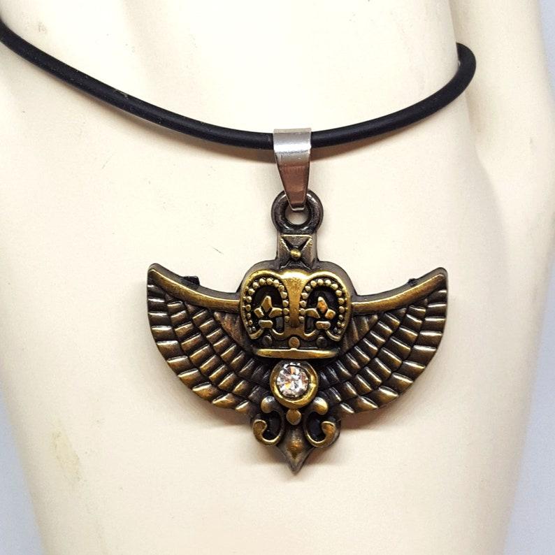SteamPunk Owl Necklace Pendant image 0