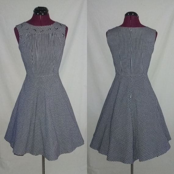 Vintage 1950s McKettrick Black and white Gingham D