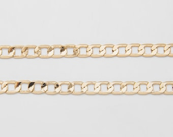 Brass oval Chain Jewelry chain 6.6feet 2M 9mm Bronze Gold White Gold long prismatic copper chain Necklace Extender Unfinished Chain