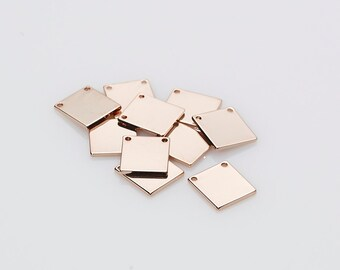 ST0041-PG Polished Gold Plated brass 2 Pieces Stamping Bar Bar pendant Personalized Stamping Blank  Bar 5x35mm  Name Plate