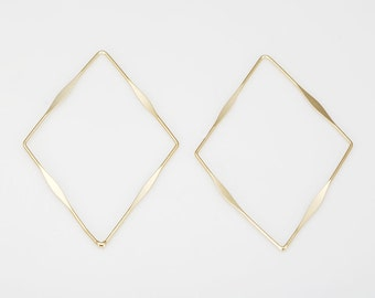 Diamond Pendant Polished Gold-Plated - 4 Pieces [P0506-PG]