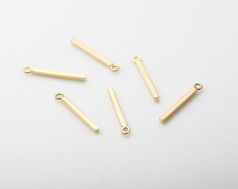 EC083-RG Polished Rose Gold Plated over Brass   4 Pcs Bar Brass Connector Jewelry Craft Supply