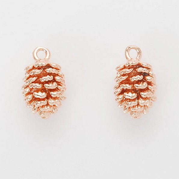 e899a0feb7c Pine Cone Pendant Pinecone Charm Layered Necklace Polished