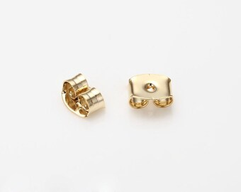 Butterfly Clutch, Ear Jacket Earring, Basic Jewelry Supplies Polished Gold- Plated - 50 Pieces [E0172-PG]