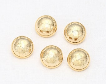 Button Rondelle Polished Gold-Plated - 2 Pieces<RD0018-PG>