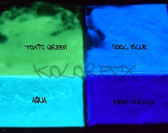 Variety Pack Glow in the Dark Luminescent Powder Crystals Pigment