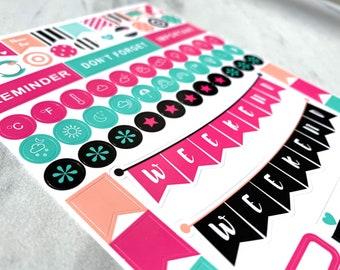 2 SHEET SET Credit Card Planner Stickers ST009