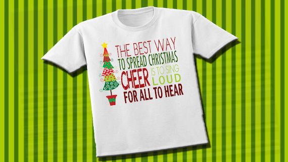 Elf Quote T Shirt Buddy Christmas X Mas Tee Funny Xmas Shirt Nutcracker Cheer Santa Quotes Holiday Clothing