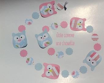 Owl wreath for children's room