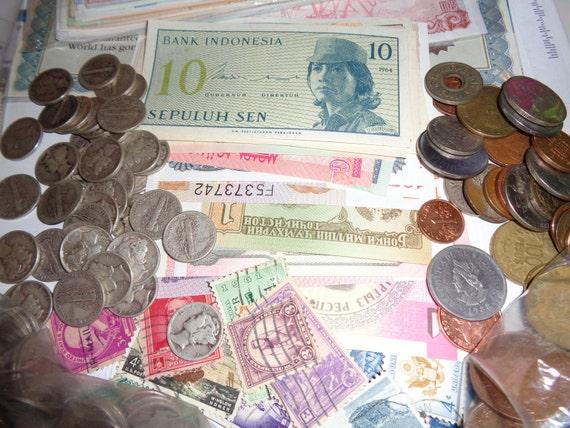 Welt Münzen Münzen Währung Ausländischen Banknoten Vintage