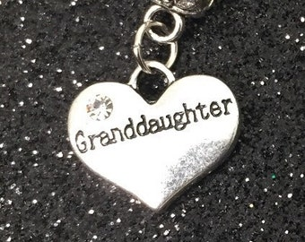9d3639ee2 2 Granddaughter charm, granddaughter jewelry, granddaughter gift charm