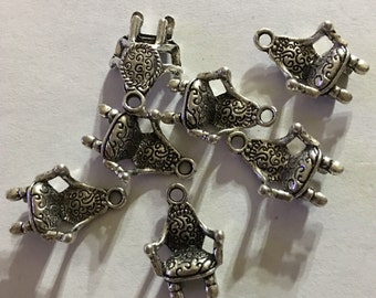 10 pieces chair, household,Tibetan Silver Charms,  U.S. Seller Ships Quick