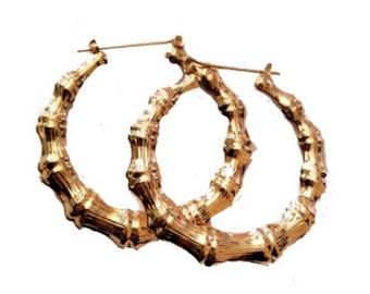 890634be08b1f Bamboo earrings | Etsy
