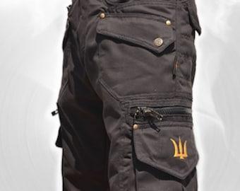 1957ca770d114e Workwear Hipster Pants,Men Short,Tribal,Steampunk,Cargo Pants,Burning Man,Pocket  Pants Christmas Gift For Men.Psy Trance Boho Festival Pants