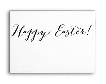 Happy Easter Stamp Calligraphy Rubber Stamp Easter Gift Stamp Housewarming Stamp Wood Handle or Self Inking