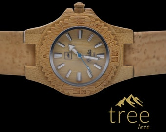 NALU SMALL Bamboo Watch - Cork strap Natural
