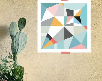 Origami Unfolded print sparrow | printable wall art | digital pdf file | instant download