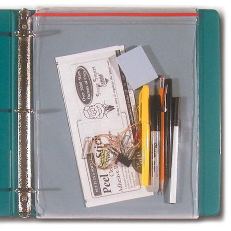 STORE SMART - Supply Zipper Case for 3-Ring Binders - 10-Pack - Vinyl  Plastic - VH309-10