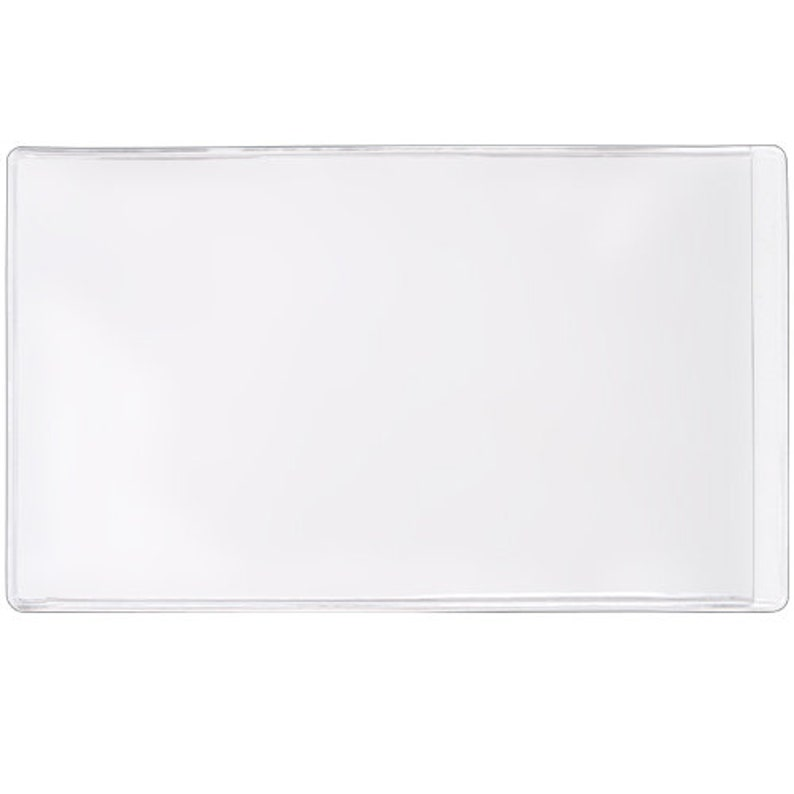 StoreSMART Open Short Side 6 x 9 Non-Adhesive Vinyl Plastic Pocket 25 Pack PE109S-C-25
