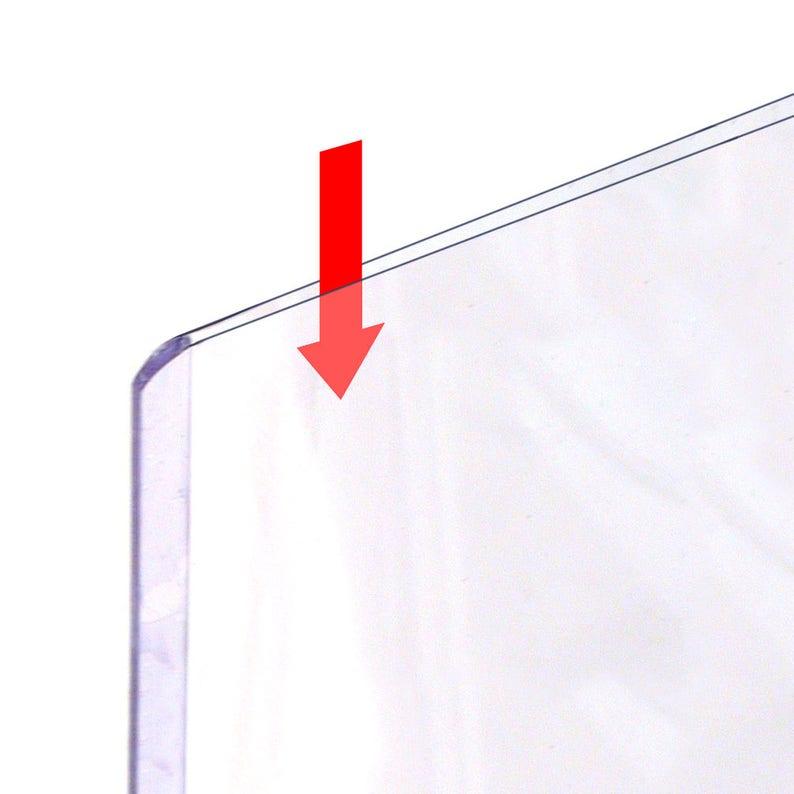 Magnetic-Back Rigid Protectors 5-Pack Clear Plastic Refrigerator or Locker Magnet HPP8X10M-5 8 x 10