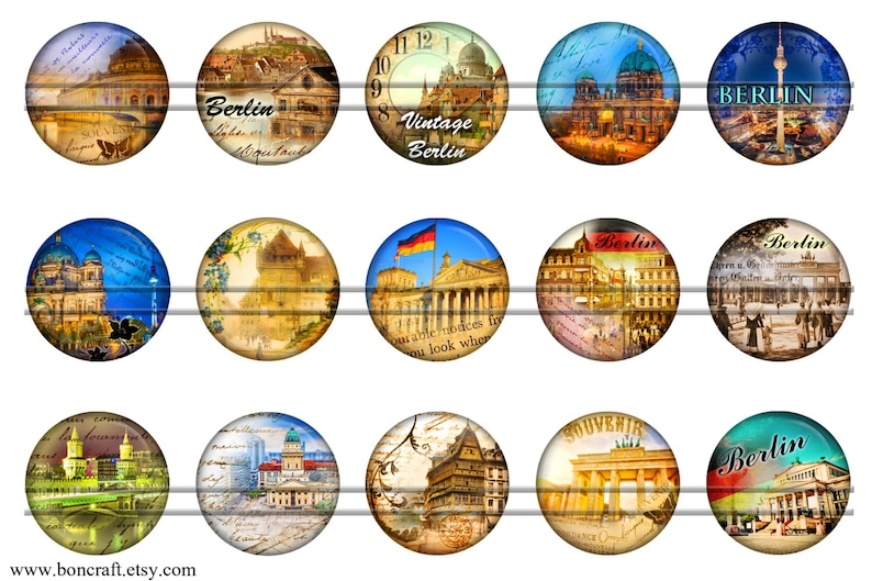 Flags bottle caps 1/'/' circles 1.5 images for pendants glass cabochons charm resin pendants Germany 25mm Vintage Berlin 30mm 1.25