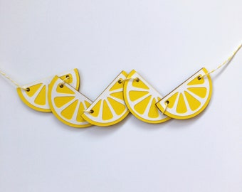Pom Pom Citrus Bunting Bunting Summer Party Felt Ball Garland FREE SHIPPING USA Raspberry Lemonade Lemon lemonade Stand