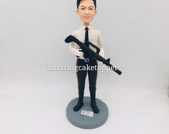 History Teacher Custom Bobble Head Clay Figurine Personalized Based on Customers Photo Birthday Cake Topper Boyfriend Gift Teacher Bday Gift