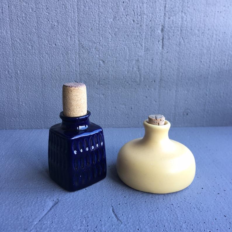 Vintage VTG european  Europe  Western German  West Germany  Deutsch  Deutschland mini  miniature pair  set of 2  two ceramic bottles