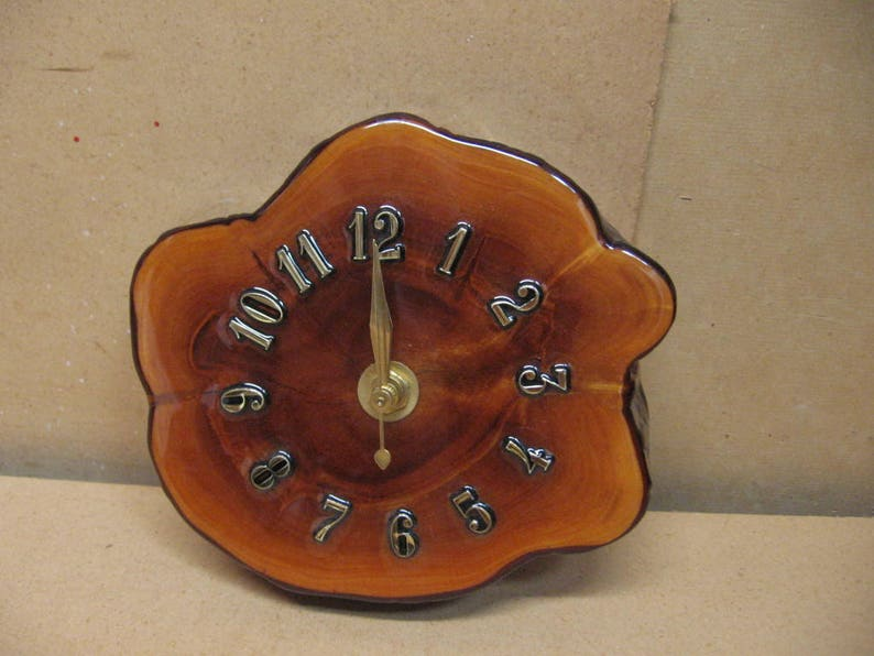 newest 3a0ec e4025 Small cypress knee clock with pretty color and natural bark.