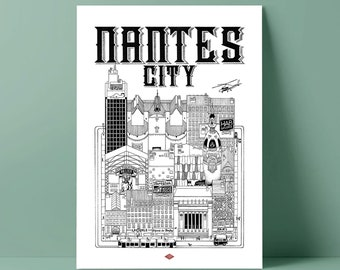 Poster of Nantes by Docteur Paper
