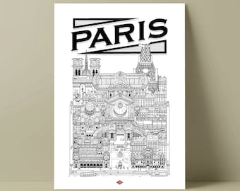 Paris - illustration / Poster / city