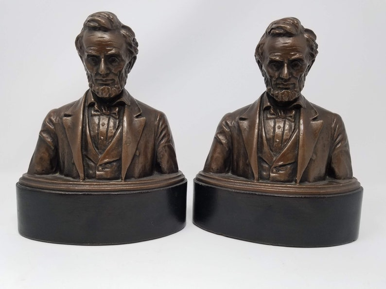 Abraham Lincoln 1920's Steven Rebeck Bust Bookends image 0