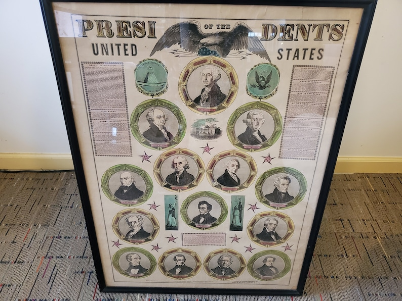 1848 Historical Ensigns and Thayer Presidential Broadside image 0
