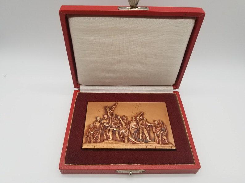 Rare Buchenwald National Monument & Remembrance Medal Plaque image 0