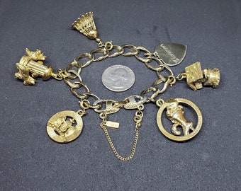 Vintage 12 Never Opened 1980s Bell Clip On/'s Charms for Necklace Teddy Bear