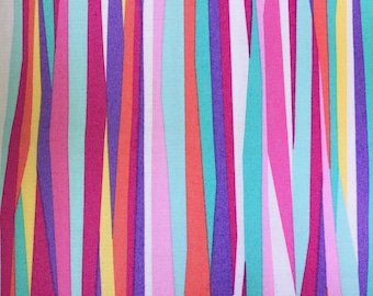 Colorful line cotton fabric.  Michael Miller Fabrics.  Current Stripe.  Quilting Cotton Fabrics.  Choose your cut.