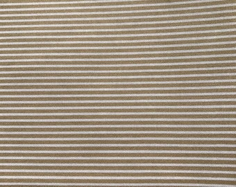 Fabric with beige stripes.  Dear Stella.  Quilting Cotton Fabric.  Choose your cut.