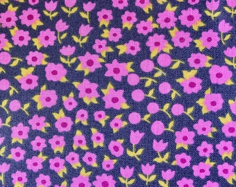 Fabric with purple flowers.  Timeless Treasures.  Quilting Cotton Fabric.  Choose your cut.