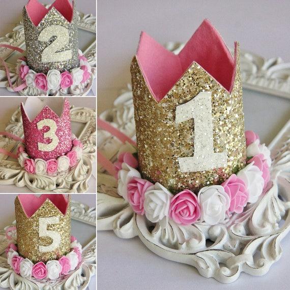 Personalised Glitter Baby Girls Mini Crown Headband
