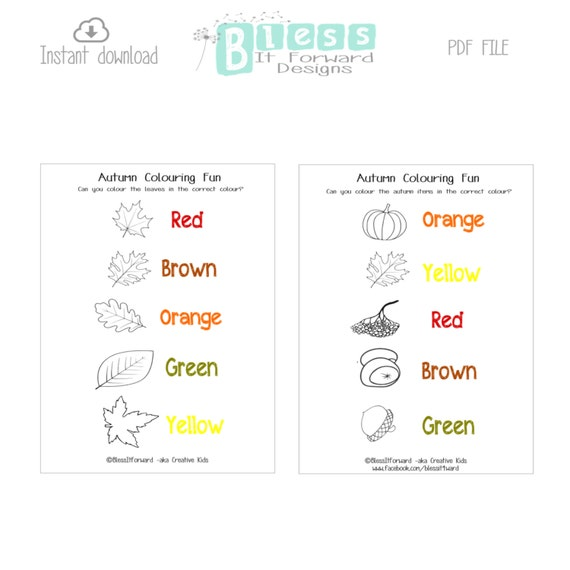 Autumn themed colouring print outs - Childminders, teachers, parents