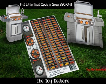 The Toy Restore Replacement Stickers Spare Decals fits Little Tikes Tykes Cook n Grow BBQ and Grill