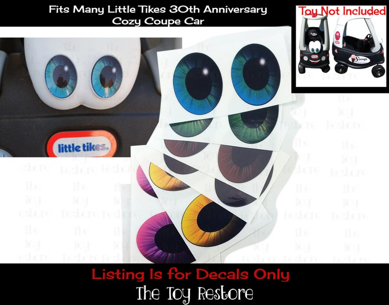 Custom Eye Pupils Decals Replacement Stickers fits 30th image 0